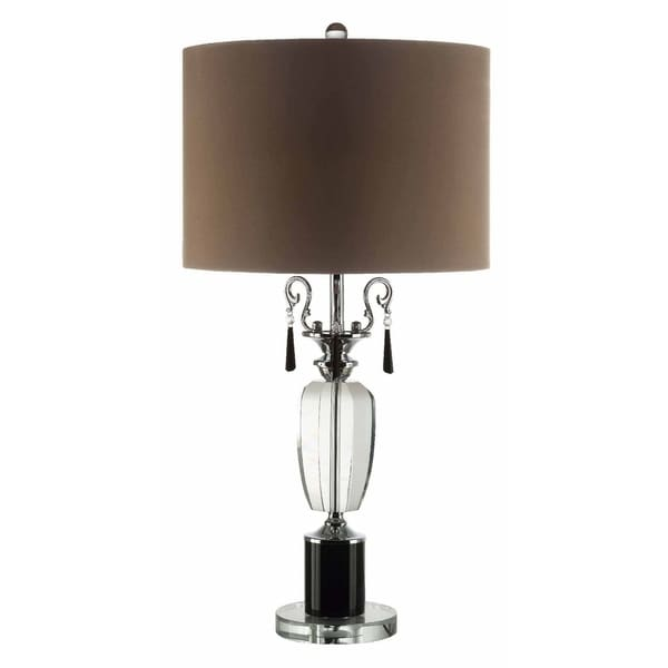 Raui Clear and Black 31-inch Table Lamp