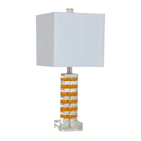 Jill Orange and Clear 23-inch Table Lamp