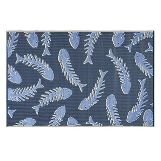 Kotter Home Fish Bones Reversible Indoor/Outdoor Rug (5 x 8')