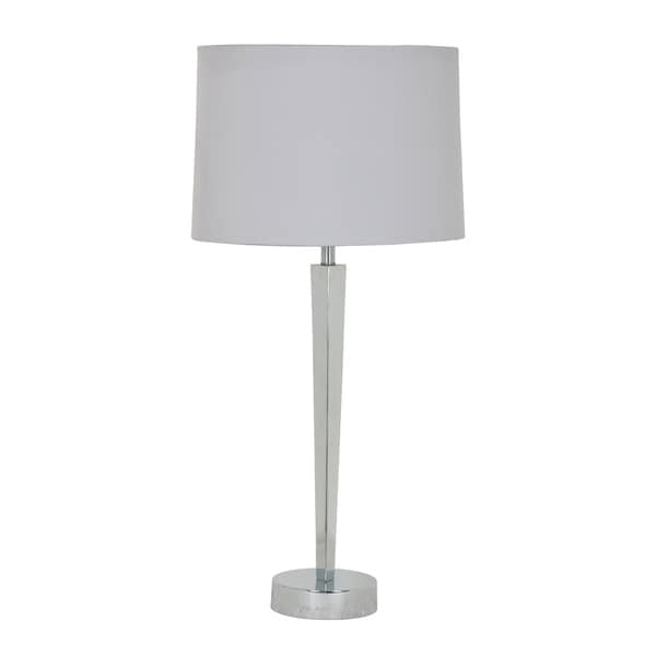 Metro Polished Nickel 30-inch Table Lamp