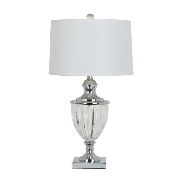 Carlton Polished Nicole and Crystal 29-inch Table Lamp