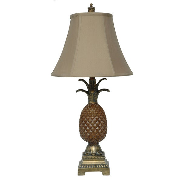 Palm Coast Tropic Brown and Gold 29-inch Table Lamp