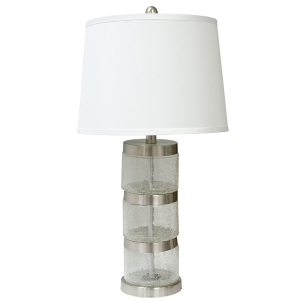 Brushed Nickel and Clear 27-inch Table Lamp