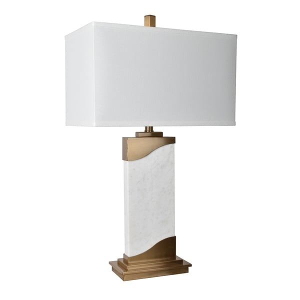 Aubin Marble and Brass 31-inch Table Lamp