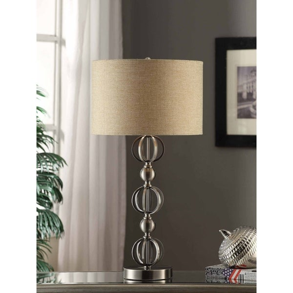 Circles Brushed Nickel 33-inch Table Lamp