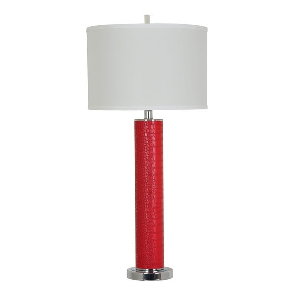 Hardy Red and Chrome 33-inch Table Lamp