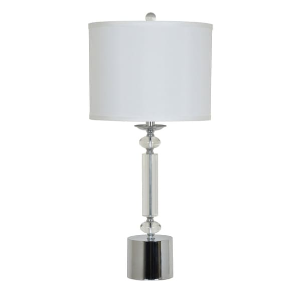 Cecil Chrome and Clear 28.5-inch Table Lamp