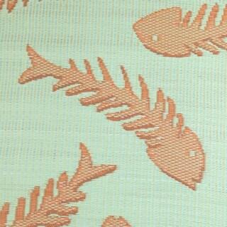 Kotter Home Fish Bones Reversible Indoor/Outdoor Rug (6 x 9')