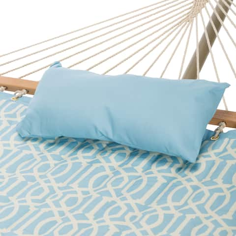 Castaway Quilted Light Blue Hammock Combo with Stand