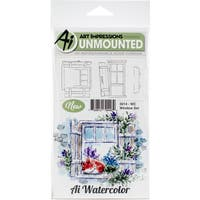 Art Impressions Watercolor Cling Rubber Stamps
