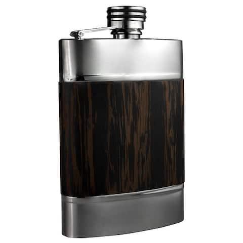 Visol Madera Wenge Exotic Wood Liquor Flask - 6 ounces