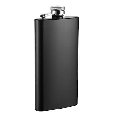 Visol Trim Black Matte Liquor Flask - 5 ounces