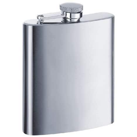 Visol Derek Satin Stainless Steel Liquor Flask - 7 ounces