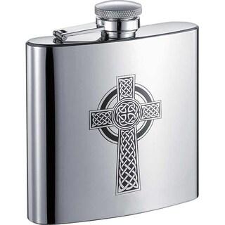 Visol Celtic Cross Stainless Steel Liquor Flask - 6 ounces