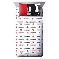 Disney Mickey Mouse Classic Big Face 3 Piece Twin Sheet Set