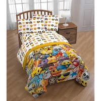 Emojs faces 3 Piece Twin Sheet Set