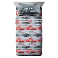 Disney/Pixar Cars 3 Movie Editorial Gray/Red 3 Piece Twin Sheet Set