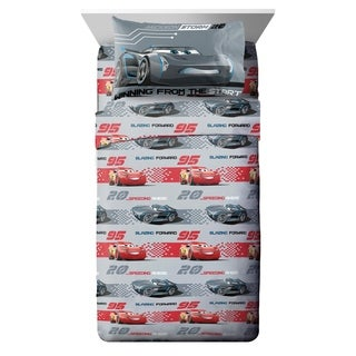 Disney/Pixar Cars 3 Movie Editorial Gray/Red 3 Piece Twin Sheet Set (2 options available)