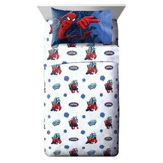 Marvel Spiderman Astonish 4 Piece Full Sheet Set