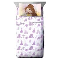 Disney Beauty & The Beast Belle En Rose 3 Piece Twin Sheet Set