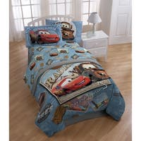 Disney/Pixar Cars Tune Up Blue/Gray 4 Piece Full Sheet Set