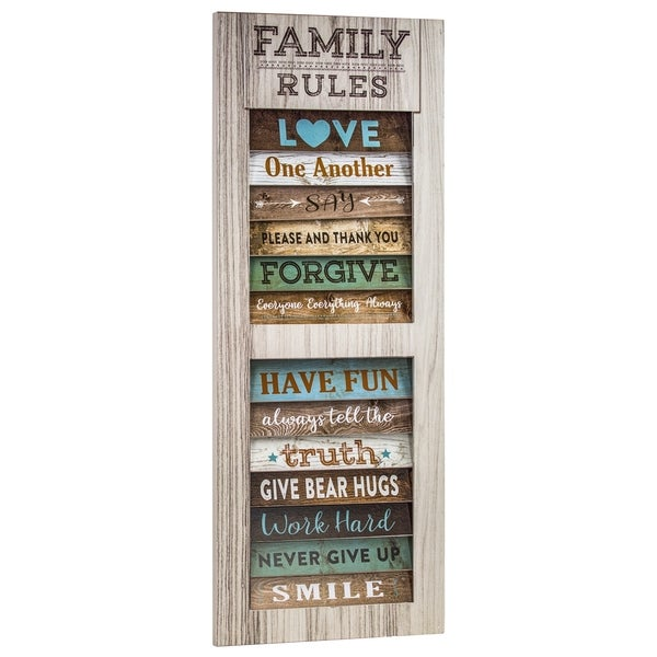 American Art Decor Family Rules Inspirational Wall