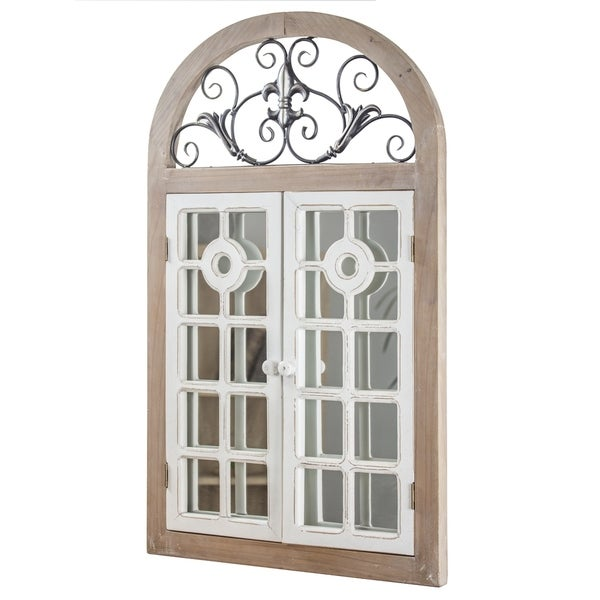 Shop American Art Decor Arch Window Shutter Wall Vanity Mirror