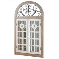 American Art Decor Arch Window Shutter Wall Vanity Mirror
