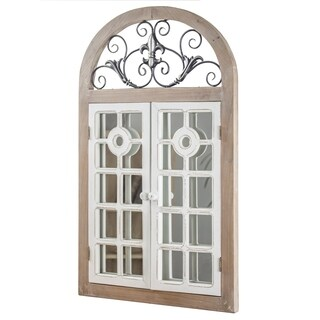 American Art Decor Arch Window Shutter Wall Vanity Mirror