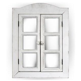 American Art Decor Window Shutter Vanity Wall Mirror