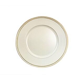 "elle white/gold set/4 charger plate 13""d"