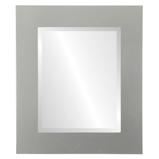 Shop Ashland Framed Rectangle Mirror In Burnished Bright Silver