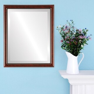 Pasadena Framed Rectangle Mirror in Vintage Cherry