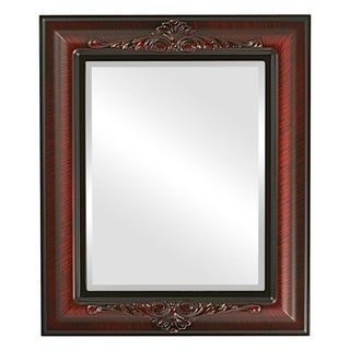 Winchester Framed Rectangle Mirror in Vintage Cherry