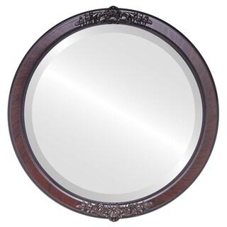 Athena Framed Round Mirror in Vintage Cherry