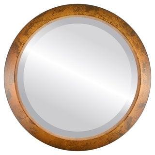 Regatta Framed Round Mirror in Venetian Gold