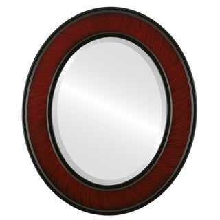 Montreal Framed Oval Mirror in Vintage Cherry