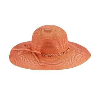 Mya - 100% Paper Straw Wide Brim Sun Hat Sun Styles - AH-001-2-11-OR