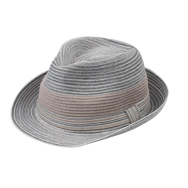 5548727f07c4f Rosie - 80% Cotton 20% Paper Straw Woven Fabric Trilby Style Sun Hat Sun