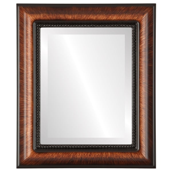 Heritage Framed Rectangle Mirror in Vintage Walnut