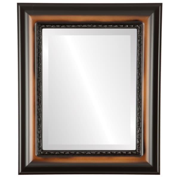 Chicago Framed Rectangle Mirror in Walnut