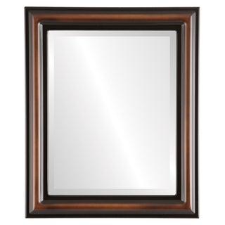 Philadelphia Framed Rectangle Mirror in Walnut