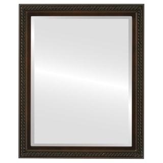Santa Fe Framed Rectangle Mirror in Walnut