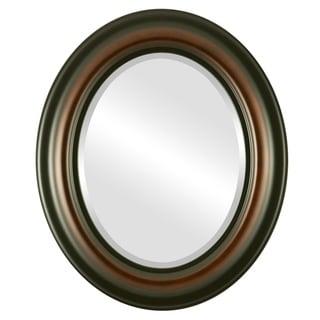 Lancaster Framed Oval Mirror in Walnut