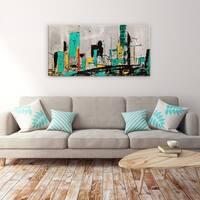 Hashtag City' 24x48 Canvas Wall Art