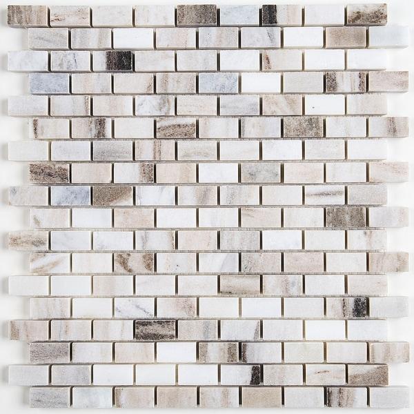 Decorative Stone Accent : Shop decorative stone accent inch brick joint mosaic
