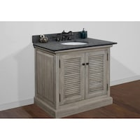 Shop Infurniture Rusticstyle Driftwood Inch Single Sink Bathroom - 36 inch rustic bathroom vanity