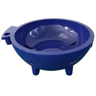 ALFI brand Dark Blue FireHotTub The Round Fire Burning Portable Outdoor Hot Bath Tub