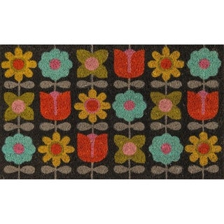 "Novogratz by Momeni Flower Child Coir Doormat 1'6"" X 2'6"""