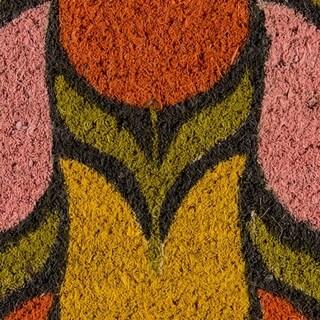 "Novogratz by Momeni Tulips Coir Doormat 1'6"" X 2'6"""